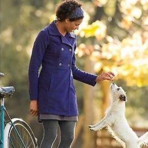 Athleta Switchback fleece Pea coat Purple Jacket